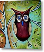 The Whimsical Owl Metal Print