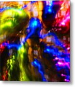 The Whirl Of Christmas Commerce Metal Print