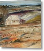 The White Barn Metal Print