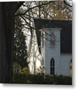 The White Church Metal Print