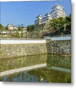 The White Heron Castle - Himeji Metal Print