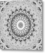The White Kaleidoscope No. 2 Metal Print