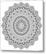 The White Mandala No. 3 Metal Print