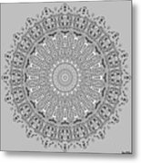 The White Mandala No. 4 Metal Print