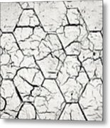The White Painted Asphalt Shingle Metal Print
