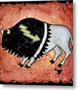 The White Sacred Buffalo Fresco Metal Print