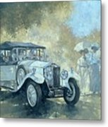 The White Tourer Metal Print
