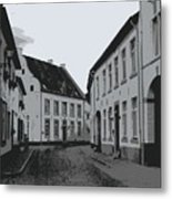The White Village - Digital Metal Print
