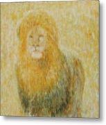 The Wild  Lion Metal Print
