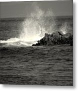 The Wild Pacific In Black And White Two Metal Print