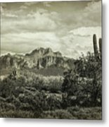 The Wild West Of The Superstitions  Metal Print