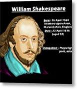 The William Shakespeare Metal Print