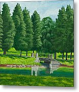 The Willow Path Metal Print