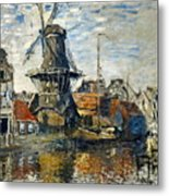 The Windmill On The Onbekende Gracht, Amsterdam 1874 Metal Print