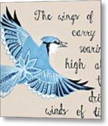 The Wings Of Hope Metal Print
