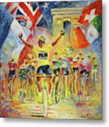 The Winner Of The Tour De France Metal Print