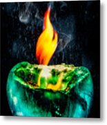 The Winter Of Fire And Ice Metal Print