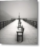 The Winter Pier Metal Print