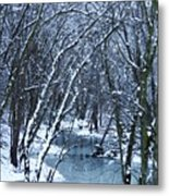 The Winter Stream  Metal Print