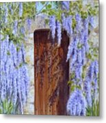 The Wisteria Gate Metal Print