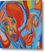 The Woman With The Red Soul Metal Print