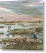 The Wondrous Feathered Things Of The Great Marsh Metal Print