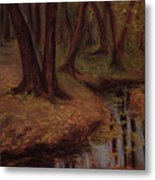 The Woods Are Deep And Dark Metal Print
