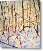 The Woods With Snow Metal Print