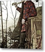 The Woodsman Metal Print