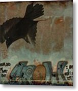 The Word Crow Metal Print