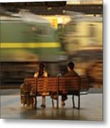 The World Going By Metal Print