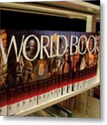 The World In The Library - Encyclopedias Metal Print