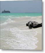 The World In The Maldives   Metal Print