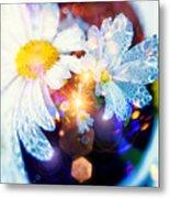 The World Of Dancing Flowers Metal Print