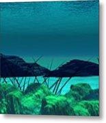 The Wreck Diving The Reef Series Metal Print