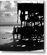 The Wreckage Of The Peter Iredale II Metal Print