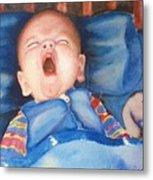The Yawn Metal Print