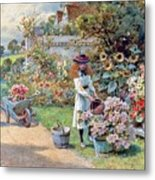 The Young Gardeners Metal Print