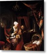 The Young Mother 1660 Metal Print