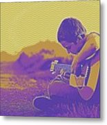 The Young Musician 3 Metal Print