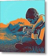 The Young Musician Metal Print