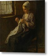 The Young Seamstress Metal Print