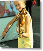 The Young Violinist  Metal Print
