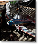 The Zebra In Colour Metal Print