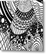 The Zendoodle Desert Metal Print