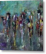 Then Came Seven Horses Metal Print