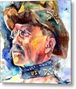 Theodore Roosevelt Painting Metal Print