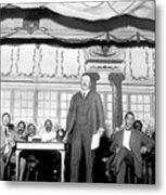 Theodore Roosevelt Speaking At National Metal Print by Everett