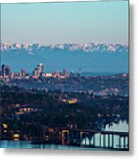 The_olympics_over_seattle Metal Print