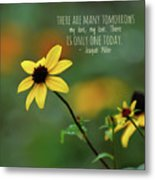 There Is Only One Today Metal Print